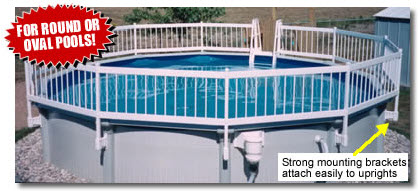 Above Ground Pool Fence swimming pool fence for above ground and in-ground pools - pool