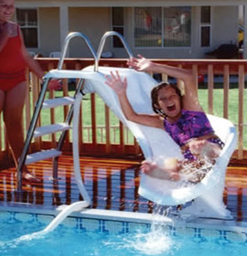 Swimming pool slides and other swimming pool accessories - How to make a swimming pool slide ...